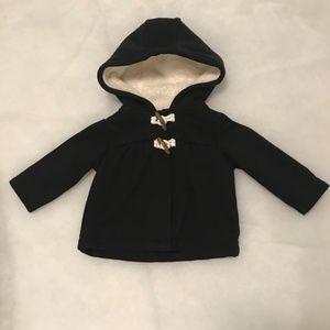 Carter's Black Fleece -Lined Hooded Overcoat